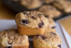 Blueberry Cream Cheese Streusel Muffins are fluffy vanilla cake, loaded with juicy blueberries and topped with cream cheese and cinnamon streusel.