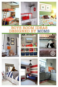 20 boys room ideas that were designed by moms. No design degree needed for these awesome kid spaces! Although that could be a girls room too! Boys Bedroom Decor, Girl Bedrooms, Bedroom Themes, Teen Bedroom, Bedroom Designs, Bedroom Ideas, Master Bedroom, Farmhouse Kitchen Decor, Kid Spaces