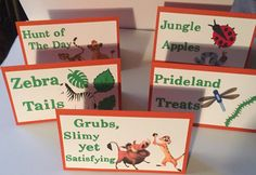 Lion guard - Lion guard food tents - Lion guard food labels - Lion guard place cards by JCBelleCreations on Etsy