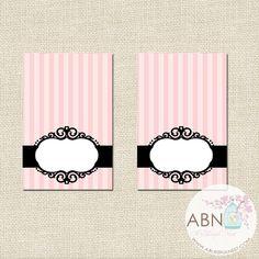 INSTANT DOWNLOAD  Bridal Shower Tent Cards by ABlissfulNestShop, $7.50