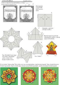 Origami Wreath, Origami Quilt, Origami And Kirigami, Easy Paper Crafts, Diy Paper, Paper Art, Origami Instructions, Origami Tutorial, Gato Origami
