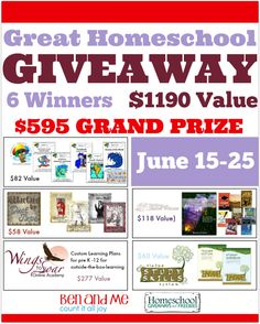 Great Homeschool Giveaway - June Edition - My Joy-Filled Life