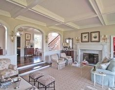 Villanova Residence - living room - Traditional - Living Room - philadelphia - by Archer & Buchanan Architecture, Ltd.