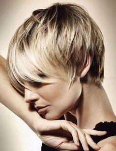 Short Haircuts For Thin Hair hairstyle  photo