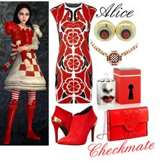 || Alice (Checkmate outfit) ~ Alice: Madness Returns || by miyu-san on Polyvore
