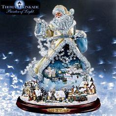 SANTA~Thomas Kinkade - Moving Santa - Link to a Thomas Kinkade Christmas page