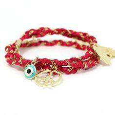 Layered Charm Bracelet by SerenaLeena.com, $18