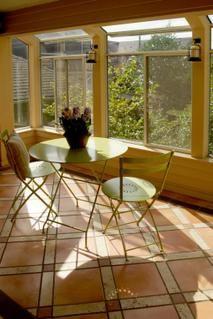 Sunrooms on pinterest sun room mexican tile floors and for Sunroom flooring ideas