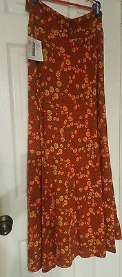 LuLaRoe Maxi Skirt Size Small S Gorgeous Floral Pattern  NWT