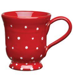 VIETRI Rosso Vecchio Dot Footed Mug