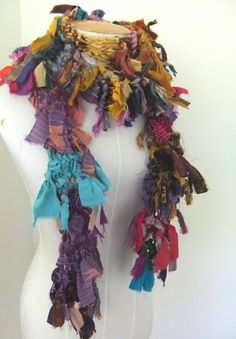 Wild Scrappy Raggy Distressed Earthy  Organic Recycled by plumfish, $40.00