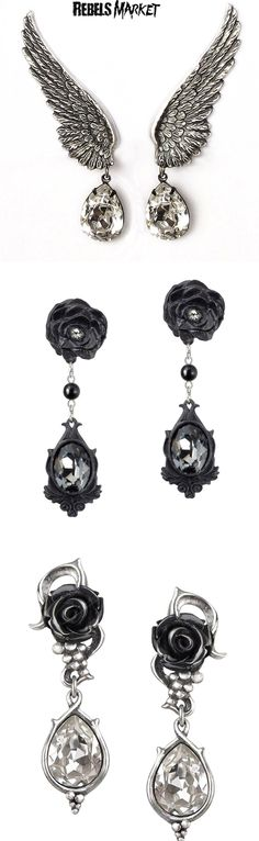 Buy gothic Valentine's earrings at RebelsMarket.