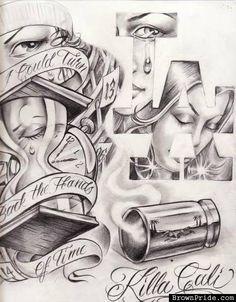 arte more tattoo ideas lowrider chicano art killa cali chicano tattoo ...