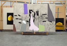 Bruce McLean. Jacobsongallery.com. Studio shot, 2014<br />Mixed media