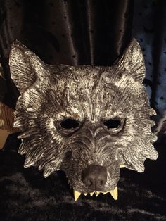 This fun, new rubber wolf mask will be a great addition to your Halloween costume. It is a comfortable padded rubber and stays on with an elastic band. Gothic Mask, Wolf Mask, Halloween Arts And Crafts, Venice Mask, Big Bad Wolf, Cool Masks, Venetian Masks, Red Riding Hood, Art Plastique