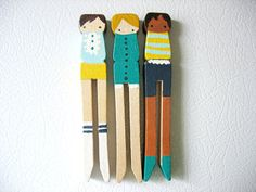 so cute, love the socks (hand painted clothespins)