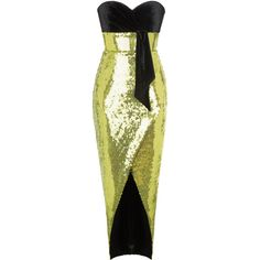 Off The Shoulder Dress | Moda Operandi ($3,360) ❤ liked on Polyvore featuring dresses, rasario, green dress, strapless fitted dress, strapless sequin dress, green strapless dress and strapless cocktail dresses