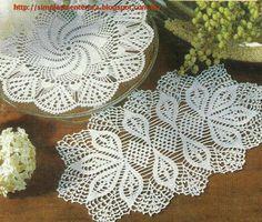 Simplesmente Artesanato: Toalhas em Crochê- modelo e gráficos