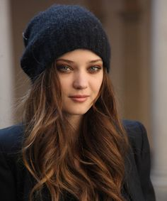 love everything in this pic. the eyes hair and beanie!