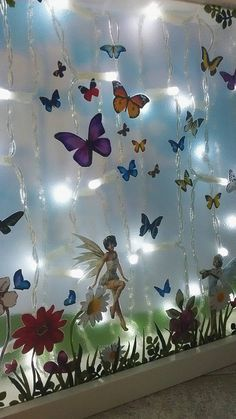 Butterfly fairy night light kids room lighting unique decor
