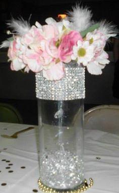 light up water beads feather flower centerpiece