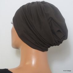 Kopftücher - CHEMOMÜTZE dunkelbraun super bequem TOP QUALITÄT - ein Designerstück von Kopf-und-Kragen bei DaWanda