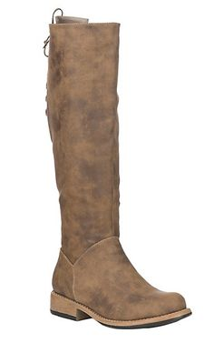 be03879a9a5a Corky s Women s Ventura Brown Distressed Faux Suede Riding Boot