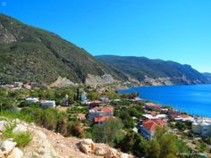 Ilia - small fishing village with mineral springs; village in Evia, Central Greece Fishing Villages, Big Island, Seaside, Greece, Coast, Vacation, Landscape, Water, Pictures