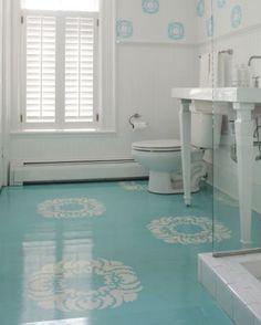 painted concrete floor - basement?