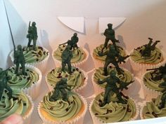 Army Cupcakes - Toy Story Birthday Party