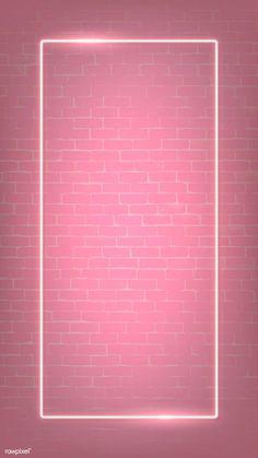 premium illustration of Rectangle pink neon frame on a pink brick Rectangle pink neon frame on a pink brick wall vector Framed Wallpaper, Pink Wallpaper Iphone, Pastel Wallpaper, Aesthetic Iphone Wallpaper, Screen Wallpaper, Aesthetic Wallpapers, Pink Wallpaper For Walls, Pinky Wallpaper, Pink Glitter Wallpaper