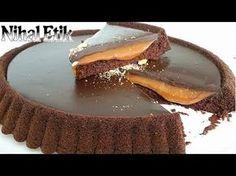 Karamelli Çikolatalı Tart Kek (Karamel ve Çikolata Aşkı) - YouTube Best Cake Recipes, Tart Recipes, Dessert Recipes, Chocolate Caramel Cake, Chocolate Desserts, Subway Cookie Recipes, Chess Cake, Pasta Cake, Star Food