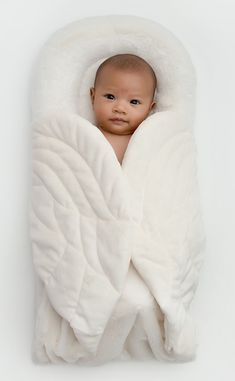 OMG! Angels on my Pillow - Wrapaboo plush blanket with enveloping angel wings