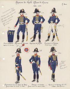 Royaume de Naples Officiers de Marine 1806-1811