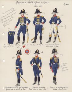 Royaume de Naples  Officiers de Marine 1806-1811