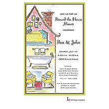 Full House Invitation designed by Inviting Company Chalkboard Invitation, Invitation Cards, Party Invitations, Bride Shower, Couples Shower Invitations, Couple Shower, Watercolor Invitations, Housewarming Party, Full House