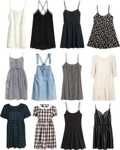 top row second from the left is super cute.... love the lining on the neckline