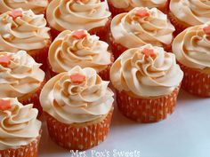 Bright, orange, and cheery!   These cupcakes were made with 1 box of Duncan Hines Orange Supreme cake mix mixed with 12 ounces of Diet Su...