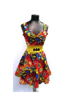Holy Rockabilly Dress Batman  Custom Size by teatimeinc on Etsy, $130.00