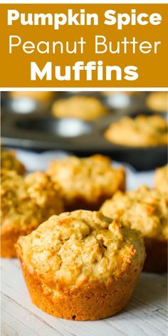 Pumpkin Spice Muffins made with cake mix quick oats and peanut butter. This easy muffin recipe is perfect for fall. Pumpkin Spice Muffins made with cake mix quick oats and peanut butter. This easy muffin recipe is perfect for fall. Pumpkin Pie Mix, Pumpkin Spice Muffins, Oatmeal Muffins, Breakfast Muffins, Breakfast Ideas, Breakfast Recipes, Peanut Butter Muffins, Peanut Butter Oatmeal, Peanut Butter Recipes