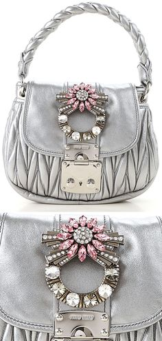 Silver and Pink Outfits.  New Season Miu Miu Bags. Outfit ideas for the Fall. Outfits for the Autumn. Best new Handbags for Fall. Miu Miu Handbags. Gift Ideas. Luxury Gifts. Top Handle Bags. Luxury Fashion. Outfit ideas for Autumn. Silver outfits. Silver Bags. #handbags #gifts #giftsforher #giftideas#christmasgifts #valentinesgifts #handbags#fendi #fendibags #winterfashion #affiliatelink