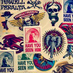 Powell Peralta Bones Brigade stickers in our shop now! - @skateboardstickers-
