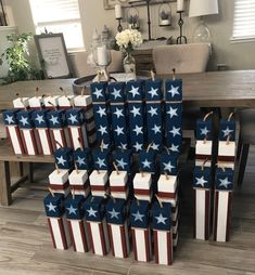 4th Of July Celebration, 4th Of July Party, Fourth Of July, 4th Of July Wreath, 4th July Crafts, Patriotic Crafts, Wooden Firecrackers, Wood Crafts, Fun Crafts