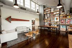 Warhouse Turned Into Inventive Vintage Office Space interior design 2