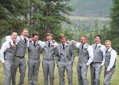Della Terra Mountain Chateau Summer Wedding Groomsmen