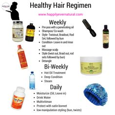 How to Create a Healthy Natural Haircare Regimen - Curly Nikki