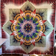 The Reclaimed West - Prairie Star quilt pattern by Judy Niemeyer for Timeless Treasure. This is like a dream quilt for me! Lone Star Quilt, Star Quilts, Quilt Blocks, Quilt Festival, Quilting Projects, Quilting Designs, Longarm Quilting, Quilting Ideas, Sewing Projects