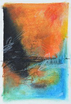 """Buoy"" by Sarah Greenman - Original 9 X 12 Oil Pastel on Paper"
