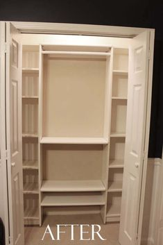 Create a closet system for under $100 with this IKEA Hack Closet Makeover with tips and tricks to make it work in any of your home's closets.