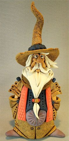 Wizard Sculpture free shipping by RexBenson on Etsy, $78.00
